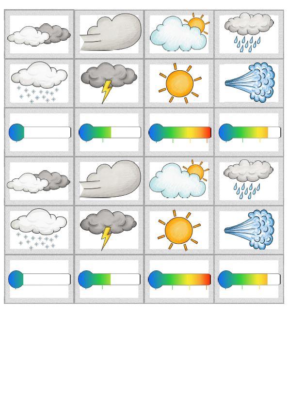 Memory Bildkarten weather