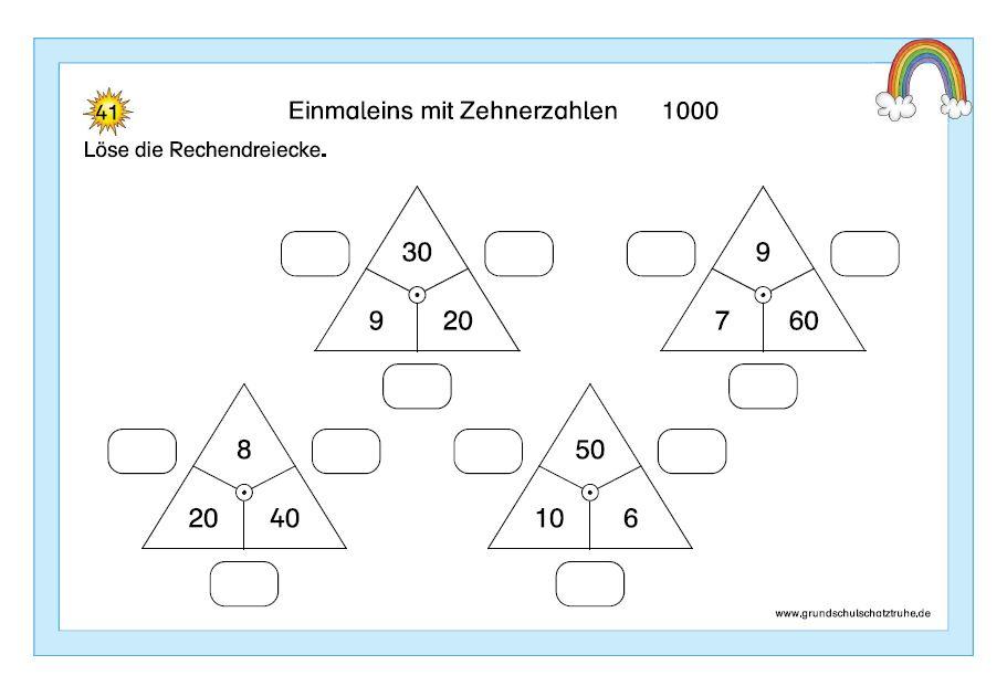 Einmaleins mit Zehnerzahlen10