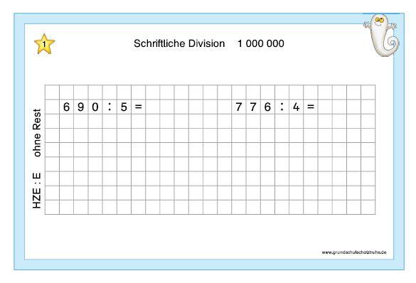 Schriftliche Division1