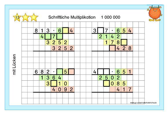 Schriftliche Multiplikation5