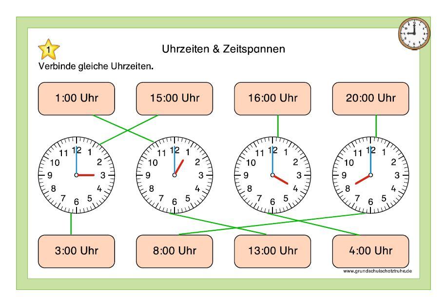 Uhrzeiten und Zeitspannen 1
