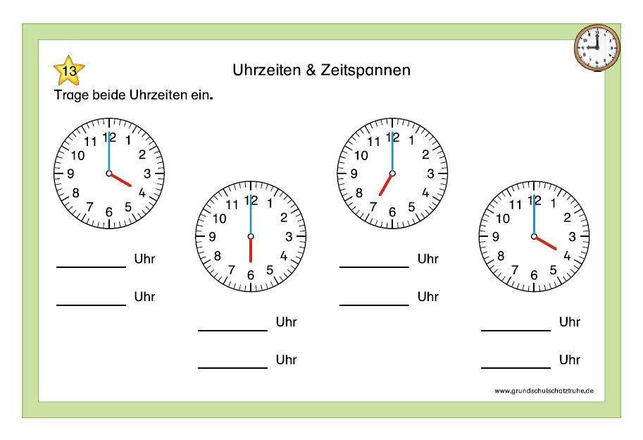 Uhrzeiten und Zeitspannen 2