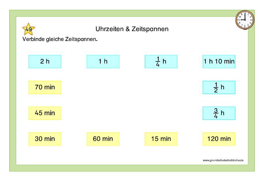 Uhrzeiten und Zeitspannen 4