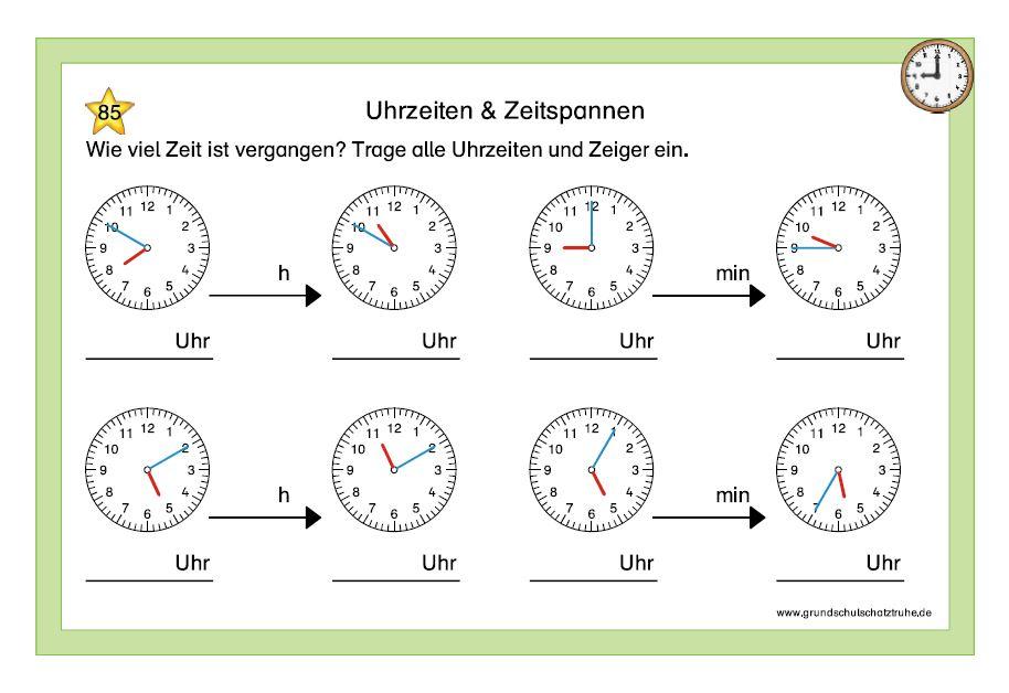 Uhrzeiten und Zeitspannen 7