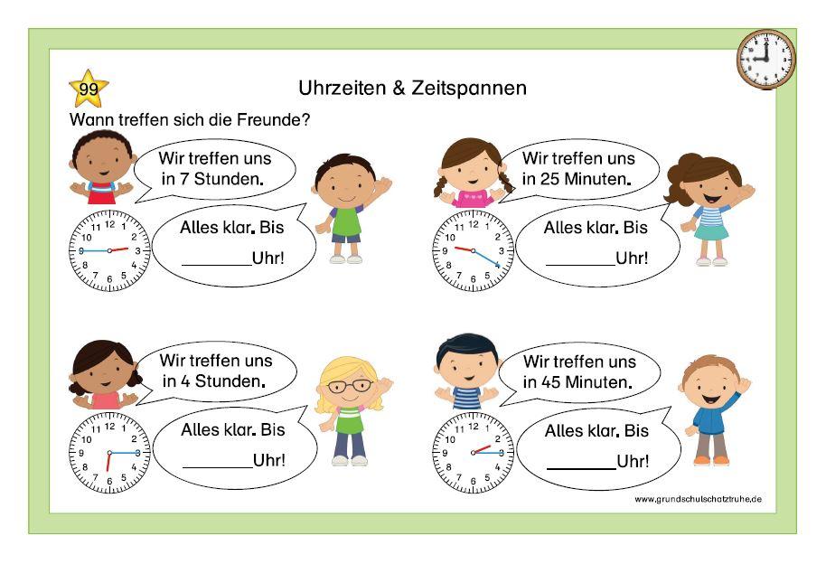 Uhrzeiten und Zeitspannen 9