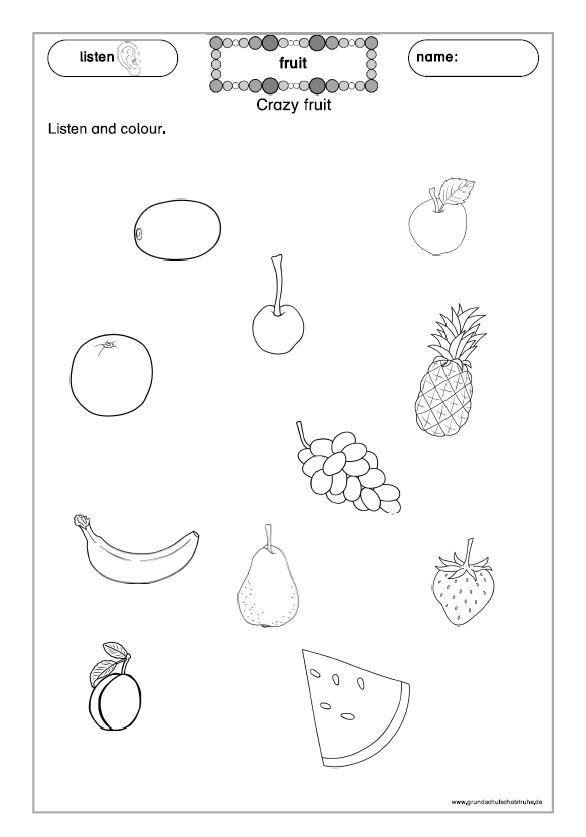 Arbeitsblätter fruit