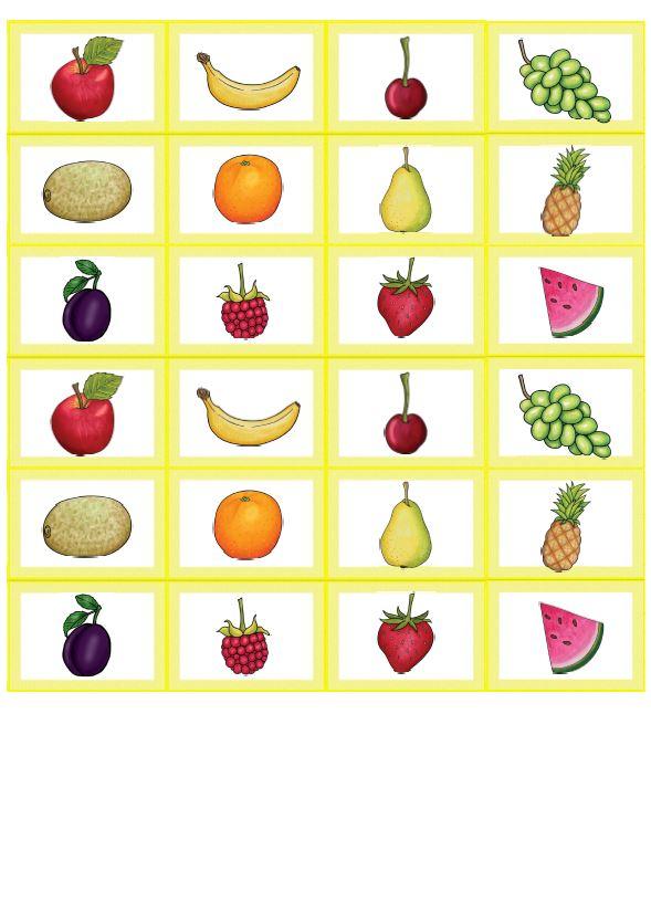 Memory Bildkarten fruit