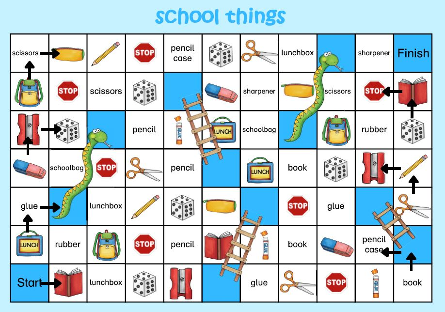 snakes and ladders school things