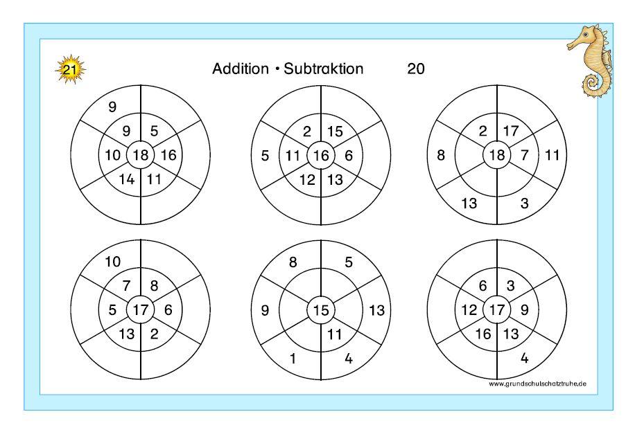 Kartei Addition + Subtraktion ZR 20 4