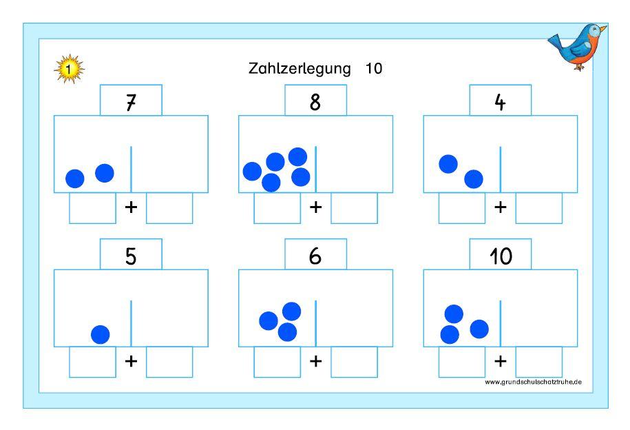 Kartei Zahlzerlegung ZR 10 1