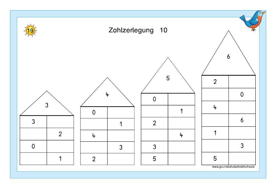 Kartei Zahlzerlegung ZR 10 3