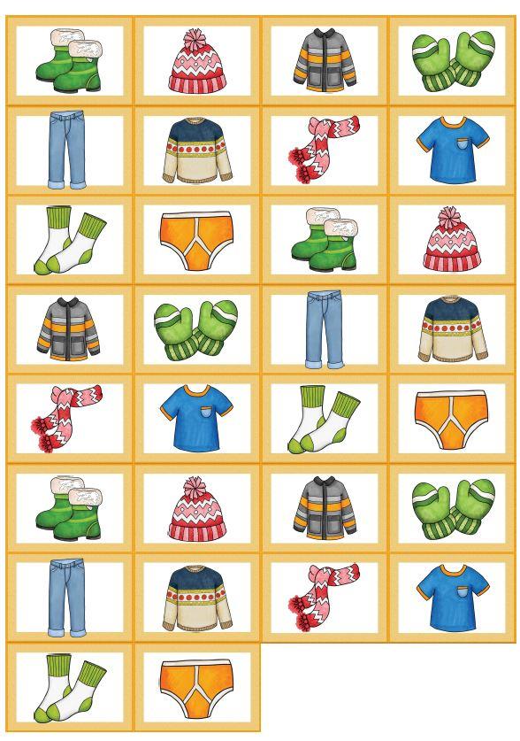 Memory Bildkarten clothes
