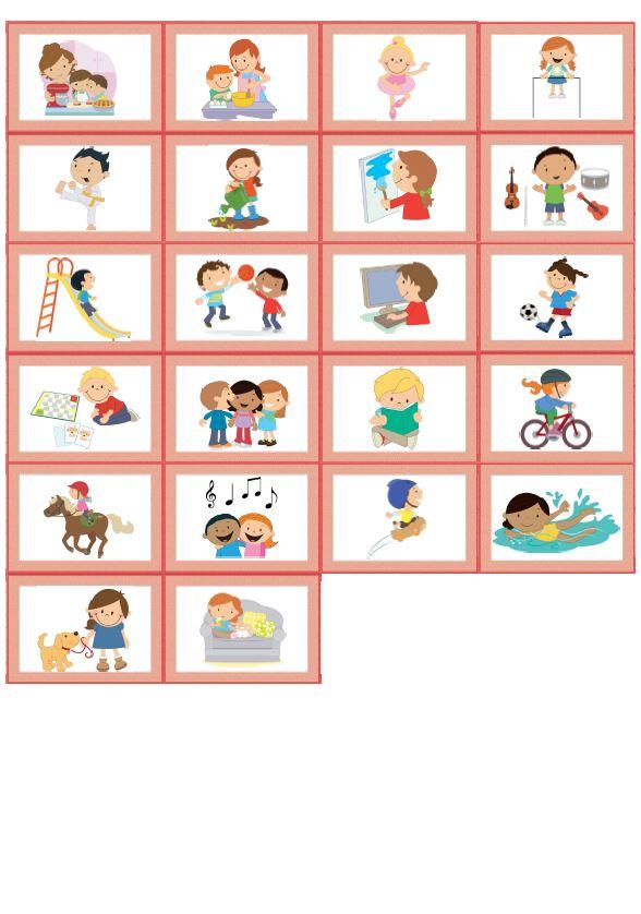 Memory Bildkarten hobbies