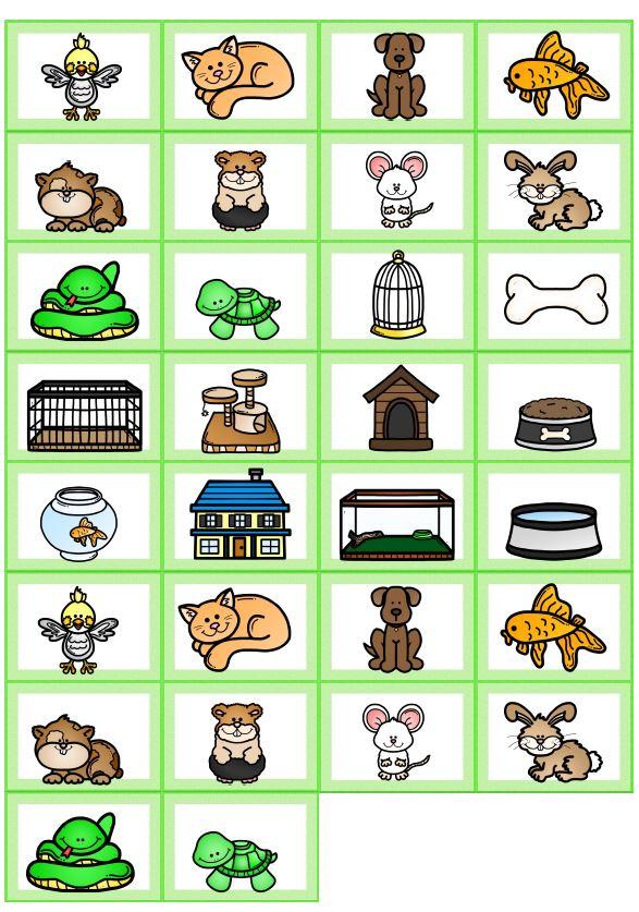 Memory Bildkarten pets
