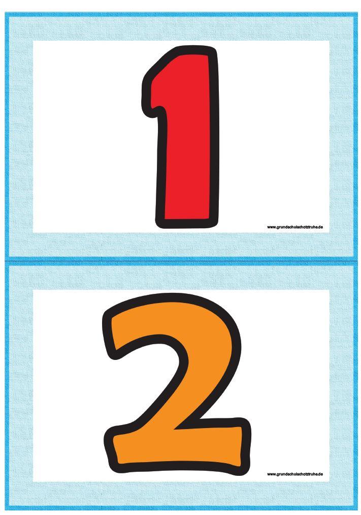 Bildkarten numbers