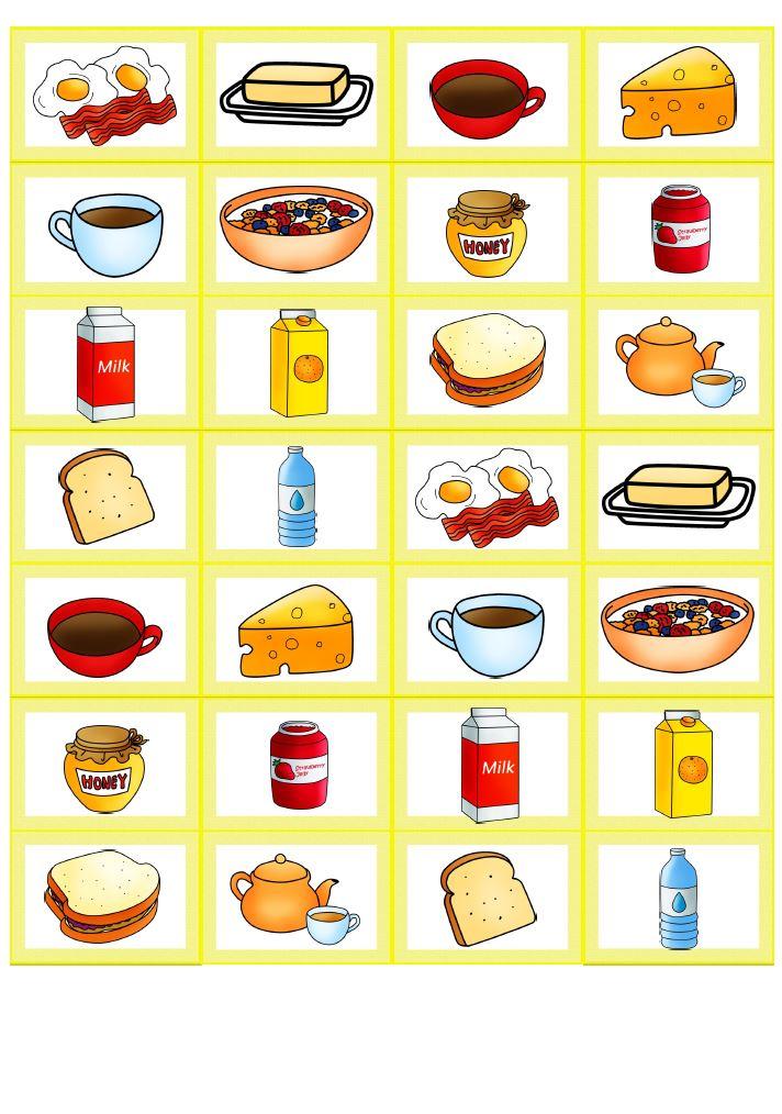 Memory Bildkarten breakfast