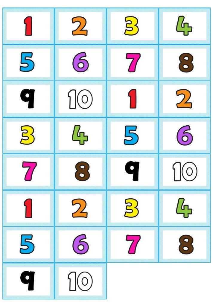 Memory Bildkarten numbers